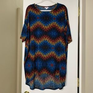 LULAROE Irma Tunic Tee XL Size Short Sleeve Hi-low